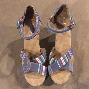 Women's Tom Wedges shoes 8